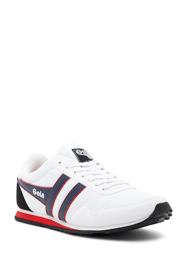 Incaltaminte Barbati Gola Monaco Trainer Sneakers WHITENAVYRED