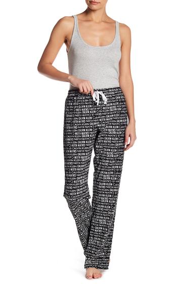 Imbracaminte Femei Calvin Klein Fleece Print Pajama Pants MLW MLTPL LOGO
