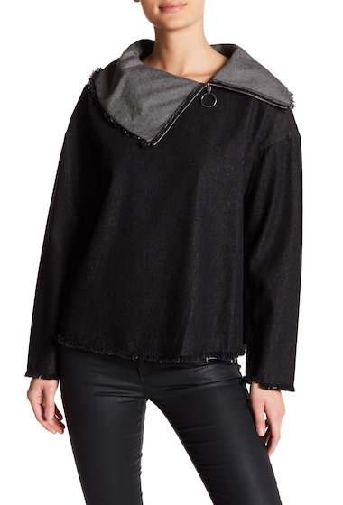 Imbracaminte Femei TOV Neck Side Zip Jacket BLACK
