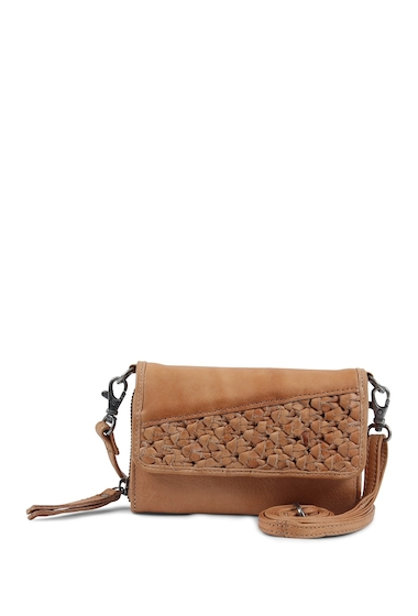 Genti Femei Day Mood Angel Mobile Leather Crossbody Bag CAMEL