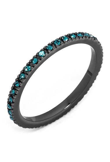 Bijuterii Femei BAUBLEBAR Glass Crystal Detail Eternity Ring BLUE-HEMATITE
