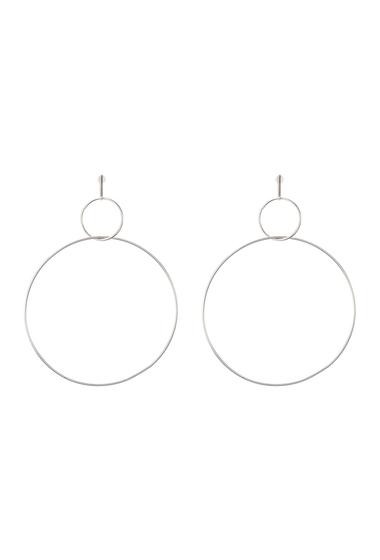 Bijuterii Femei Natasha Accessories Interlocking Hoop Earrings SILVER