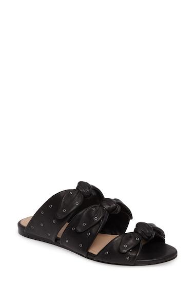 Incaltaminte Femei Pour La Victoire Logan Knotted Slide Sandal BLACK