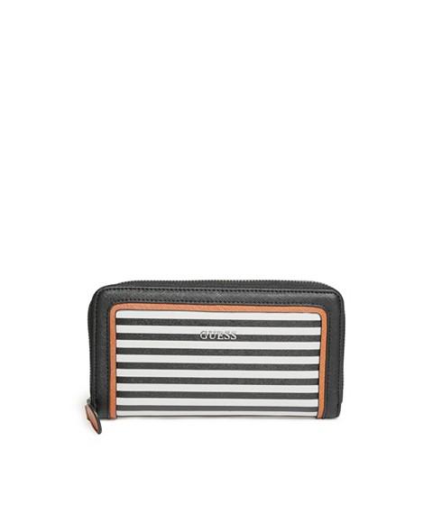 Accesorii Femei GUESS Take A Dive Striped Zip-Around Wallet black multi