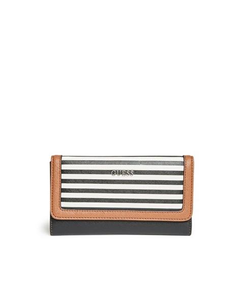 Accesorii Femei GUESS Take A Dive Striped Slim Wallet black multi