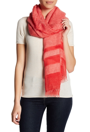 Accesorii Femei Melrose and Market Textured End Heathered Scarf CORAL HOT