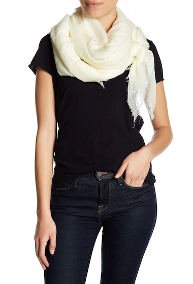 Accesorii Femei Melrose and Market Textured End Heathered Scarf IVORY EGRET