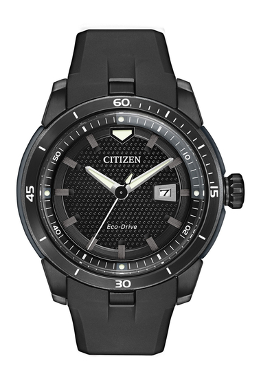 Ceasuri Barbati Citizen Watches Mens Eco-Drive Ecosphere Black Rubber Strap Watch 47mm NO COLOR