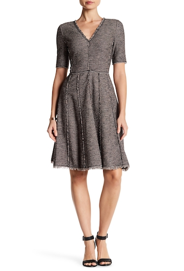 Imbracaminte Femei Rebecca Taylor Raw Edge Boucle Dress TEABERRY COMBO