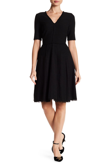Imbracaminte Femei Rebecca Taylor Raw Edge Boucle Dress BLACK COMBO