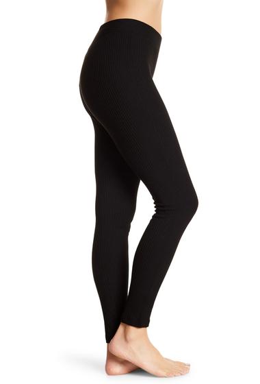 Imbracaminte Femei HUE Ribbed Leggings BLACK