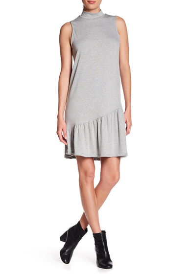 Imbracaminte Femei Abound Asymmetrical Ruffle Hem Dress GREY LIGHT HEATHER