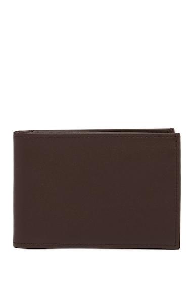 Accesorii Barbati Boconi Phil Leather Slim Bifold Wallet ESPRESSO W-HOUNDSTOOTH