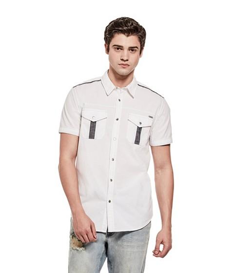 Imbracaminte Barbati GUESS Gerardo Ripstop Shirt true white