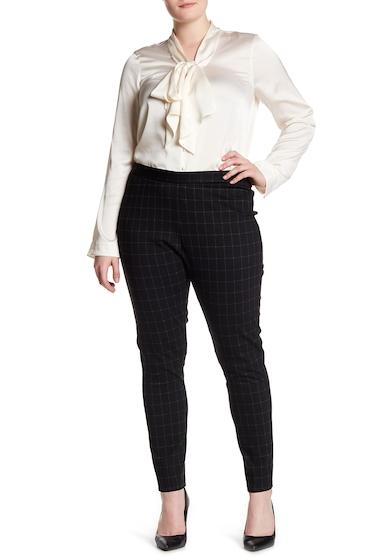 Imbracaminte Femei Amanda Chelsea Windowpane Tapered Pants Plus Size BLACK