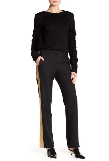 Imbracaminte Femei Tibi Tuxedo Metallic Stripe Pant BLACK
