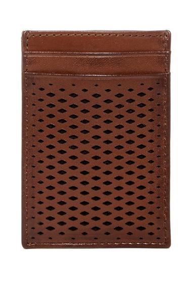 Accesorii Barbati Cole Haan Leather Money Clip Card Case BRITISH TAN