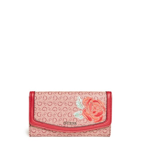 Accesorii Femei GUESS Andover Slim Logo Wallet red