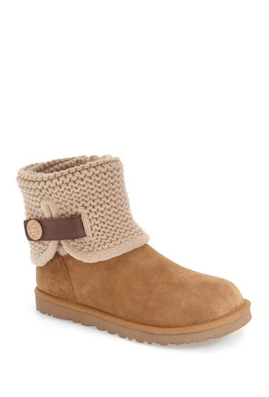 Incaltaminte Femei UGG Shaina Knit Suede Boot CHE