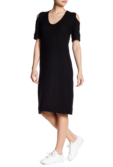 Imbracaminte Femei C C California Mindi Cold Shoulder Slouchy Midi Dress BLACK