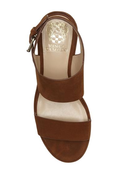 Incaltaminte Femei Vince Camuto Karlan Platform Wedge Sandal MAPLE BROWN