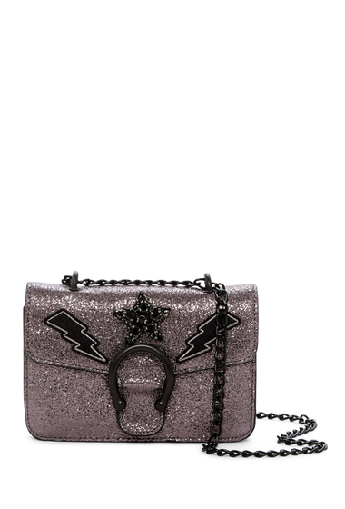 Genti Femei Steve Madden Syra Mini Chain Crossbody Bag PEWTER W- APPLIQUE