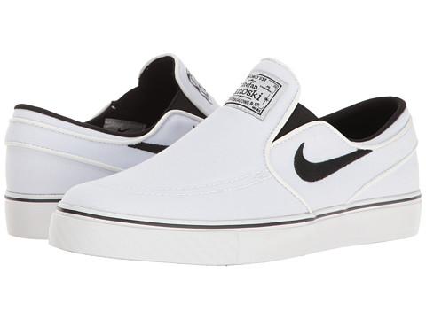 Incaltaminte Baieti Nike Stefan Janoski Canvas Slip GS (Big Kid) WhiteBlack