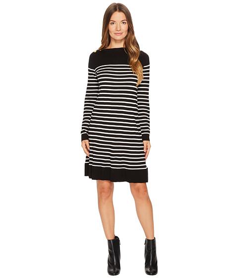 Imbracaminte Femei Kate Spade New York Stripe Swing Sweater Dress BlackOff-White