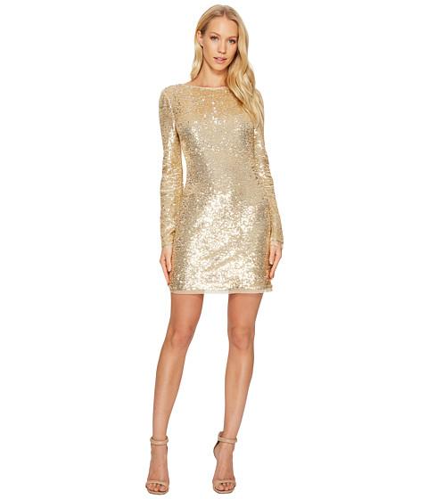 Imbracaminte Femei Rachel Zoe All Over Sequin Long Sleeve Racko Dress Gold
