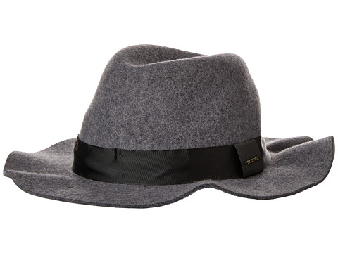 Accesorii Barbati Scotch Soda Classic Felt Fedora Hat Grey Melange