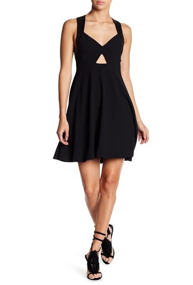 Imbracaminte Femei Alice Olivia Dina Racerback Cutout Flared Dress BLACK