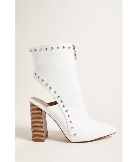 Incaltaminte Femei Forever21 Studded Ankle Cutout Boots WHITE