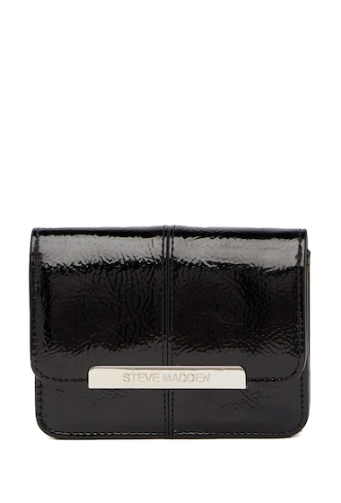 Genti Femei Steve Madden Accordion Wallet and Key Fob Boxed Gift Set - 2-Piece Set BLACK