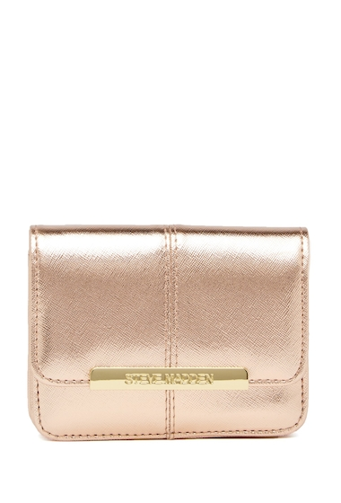 Genti Femei Steve Madden Accordion Wallet and Key Fob Boxed Gift Set - 2-Piece Set ROSE GOLD