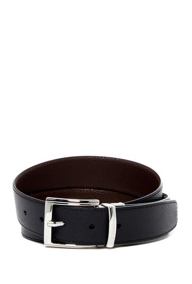 Accesorii Barbati A Testoni Reversible Leather Belt NERONAVY
