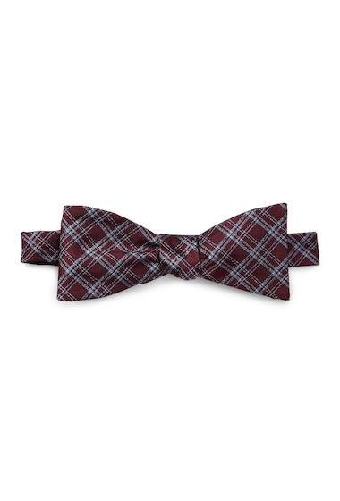 Accesorii Barbati Ben Sherman Warner Plaid Bow Tie BURGUNDY
