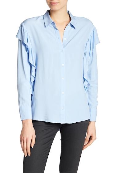 Imbracaminte Femei DR2 by Daniel Rainn Ruffle Button Up Shirt FRENCH BLU