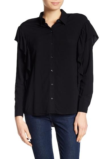 Imbracaminte Femei DR2 by Daniel Rainn Ruffle Button Up Shirt BLACK