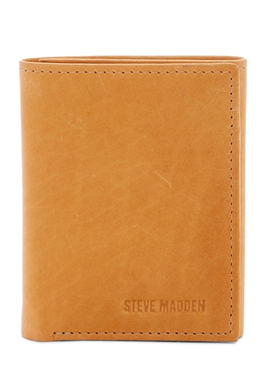 Accesorii Barbati Steve Madden Antique Leather Tri-fold Wallet TAN