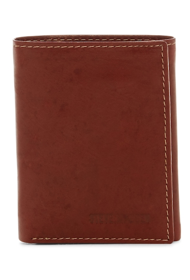 Accesorii Barbati Steve Madden Antique Leather Tri-fold Wallet BROWN