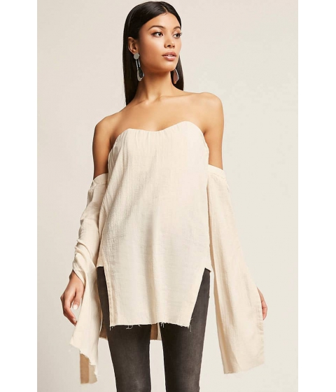 Imbracaminte Femei Forever21 Vented Off-the-Shoulder Top VANILLA
