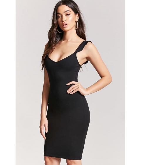 Imbracaminte Femei Forever21 Ruffle Bodycon Dress BLACK