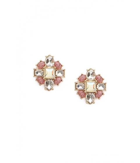 Bijuterii Femei Forever21 Faux Crystal Gem Stud Earrings GOLDPINK