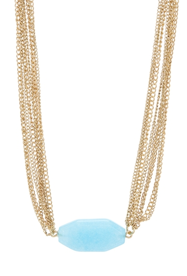 Bijuterii Femei Melrose and Market Multi-Layer Pendant Necklace BLUE- GOLD