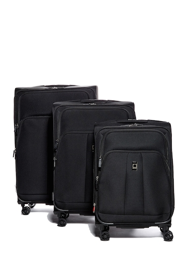 Genti Femei Delsey Luggage Lyon 3-Piece Spinner Suitcase Set BLACK