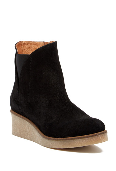 Incaltaminte Femei Matt Bernson Frieze Suede Mid Boot BLACK SUEDE