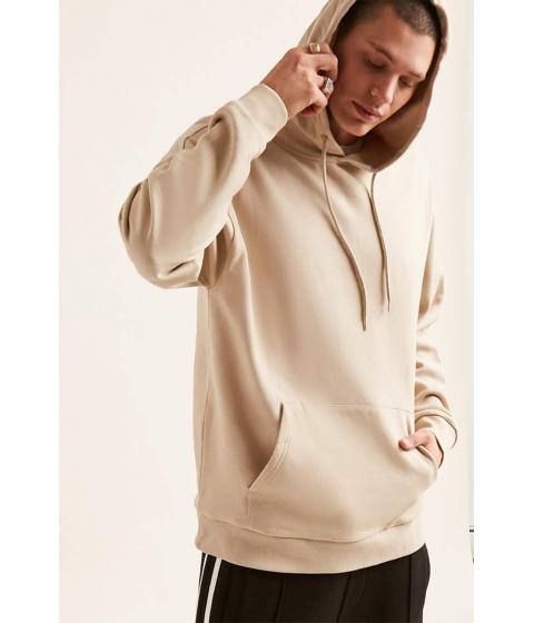 Imbracaminte Barbati Forever21 Drop-Shoulder Fleece Hoodie TAUPE