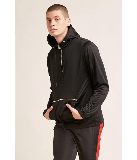 Imbracaminte Barbati Forever21 Hooded Zip-Pocket Pullover BLACK