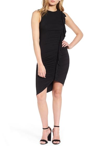 Imbracaminte Femei Soprano Asymmetrical Ruffle Body-Con Dress BLACK