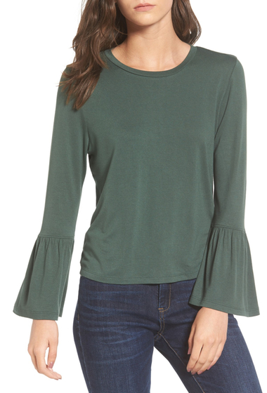 Imbracaminte Femei BP Bell Sleeve Tee GREEN JUNGLE